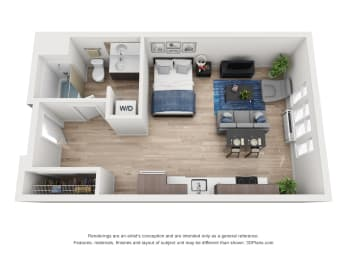 North Hollow Apartments A1.2 Floor Plan