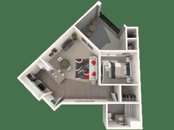 Gamble - One bedroom one bathroom unit at FountainGlen Temecula