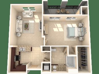 Juniper Floor Plan at 55+ FountainGlen  Jacaranda, Fullerton, California