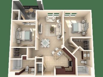 Mulberry Floor Plan at 55+ FountainGlen  Jacaranda, California