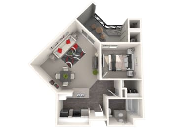 Rancho Floor Plan at 55+ FountainGlen Valencia, Valencia