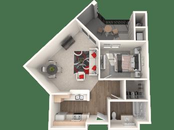 Santa Cruz Floor Plan at 55+ FountainGlen Stevenson Ranch, Stevenson Ranch, 91381