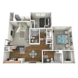 Trove Eastside Apartments Furnished B1 Floor Plan