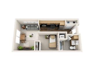 Floor Plan  Waterscape at Juanita Village Apartments E1A Floor Plan