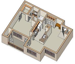 Floor Plan 1x1