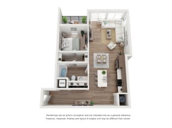 West 38 Apartments One Bedroom One Bathroom C Floor Plan