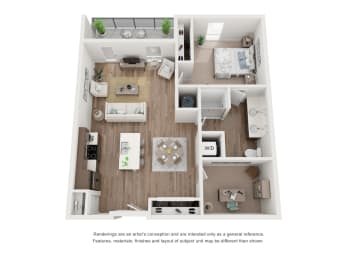 West 38 Apartments One Bedroom One Bathroom E Floor Plan