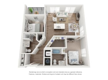 West 38 Apartments Two Bedrooms Two Bathrooms A Floor Plan