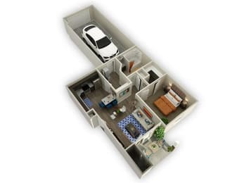 1 Bedroom 1 Bathroom Floor Plan at Alloy at Geneva, Vineyard, UT