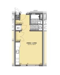 Studio Floor Plan at Park77, Cambridge, 02138