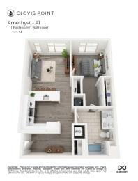 Amethyst Floor Plan at Clovis Point, Longmont