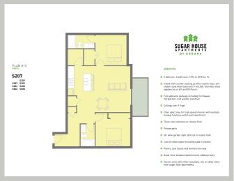 Floor Plan 2 Bed K15 (k15-b)