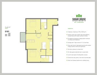 Floor Plan 2 Bed K7 (k7-b)