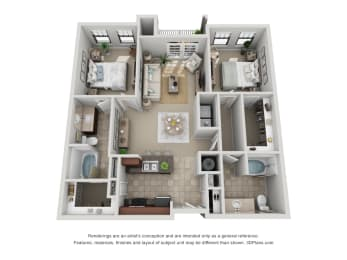 Floor Plan B1 Renovated
