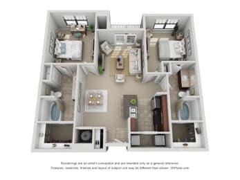 Floor Plan B3 Renovated