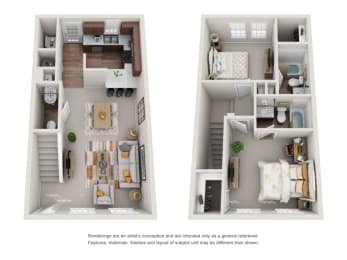 Floor Plan B2 Renovated