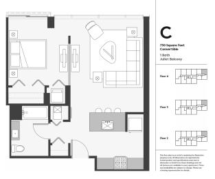 Floor Plan One Bedroom Open