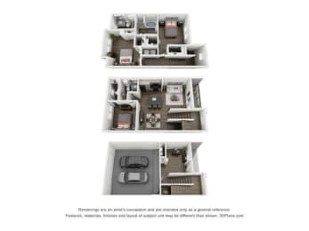 Floor Plan ST. Martin Townhome