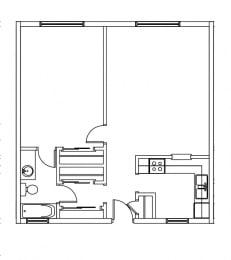 Floor Plan 1 BED / 1 BATH