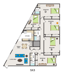 Floor Plan Pricing per individual lease/bed