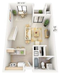 Marina Studio Loft at Pine at 6th,CA, 90802