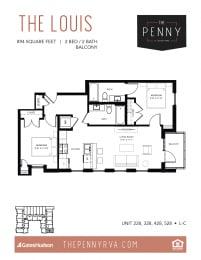 Floor Plan The Louis (L-C)