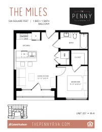 Floor Plan The Miles (M-A)