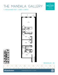 Floor Plan Mandala Gallery - 3 Bedroom 2 bath