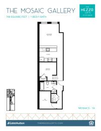 Floor Plan Mosaic Gallery - 1 Bedroom 1 Bath
