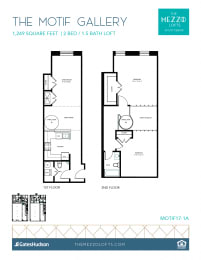 Floor Plan Motif Gallery - 2 Bedroom 1 Bath