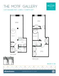 Floor Plan Motif Gallery - 2 Bedroom 1.5 Bath