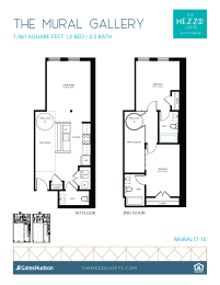 Floor Plan Two Bedroom, 2.5 Bath