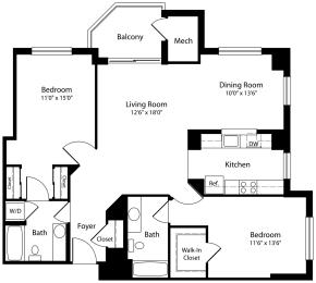 Floor Plan 2x2d