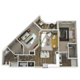 3D Two Bedroom|Two Bath 1206 sf at The Westhouse, Fort Worth, TX  76244