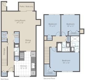 Floor Plan 3 Bed 2.5 Bath
