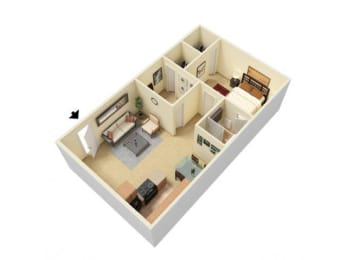 Floor Plan 2 Bed Junior