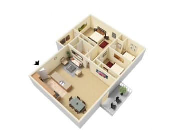 Floor Plan 3 Bed 1.5 Bath