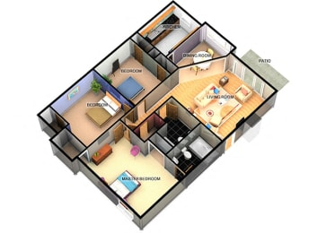 C1 Three Bedroom 2 Bathroom at Enclave Apartments, Texas, 79106