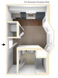 Studio Apartment Floor Plan Conway Courts Apartments