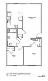 Floor Plan 2 BR 1 BA
