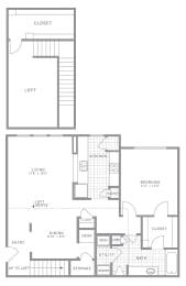 A2 Loft Floor Plan at AVE Somerset, Somerset, 08873