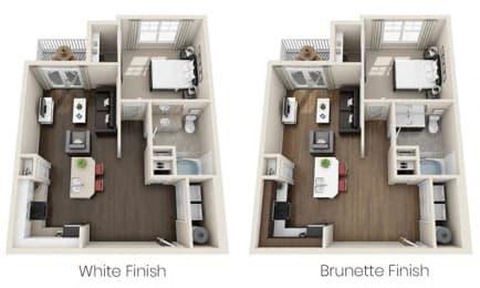 Floor Plan  One Bedroom_2_Floor Plan