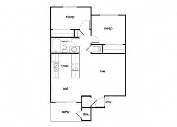 Floor Plan  B1 at Riverstone in Antioch CA