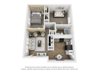 floor plan at 11 North Apartments