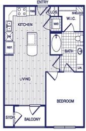 Floor Plan  A1 Floor Plan at Vargos on the Lake, Houston, TX, 77063