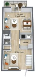 Floor Plan 2 Bed | 2. 5 Bath