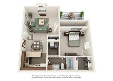 Pinehurst Apartment Homes - 1 Bedroom 1 Bath Apartment