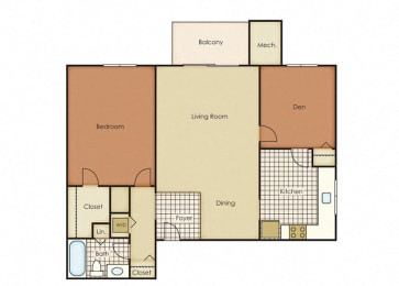 Pines of York Apartment Homes - 1 Bedroom 1 Bath Apartment
