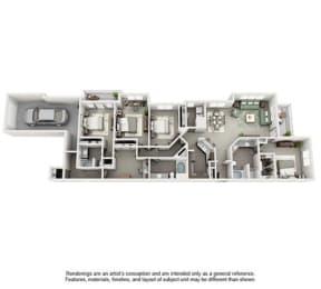 The Estates at Johns Creek Apartment Homes - 4 Bedroom 3 Bath Apartment
