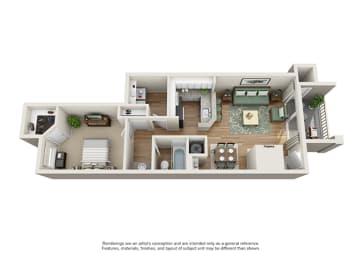 Verdant Apartment Homes - 1 Bedroom 1 Bath Apartment